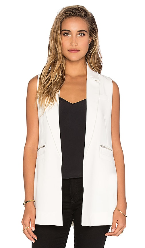Bishop + Young Sleeveless Tunic Vest in White