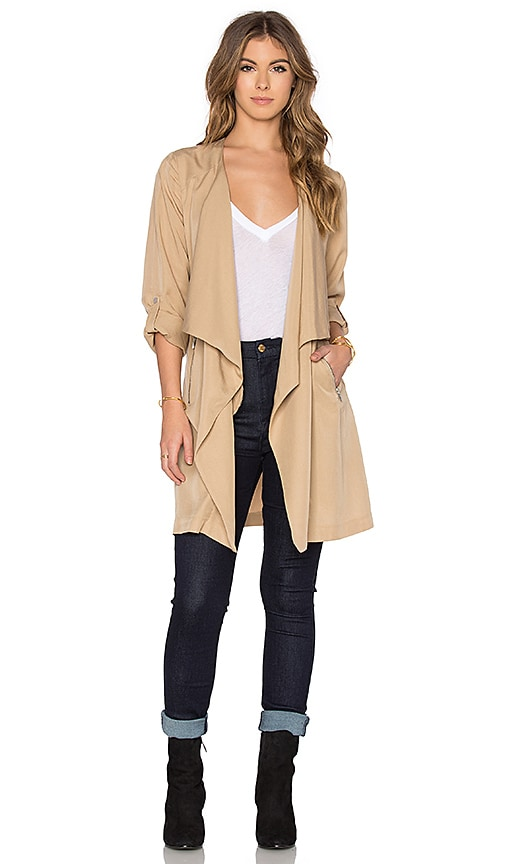 Bishop + Young Military Lightweight Trench in Beige