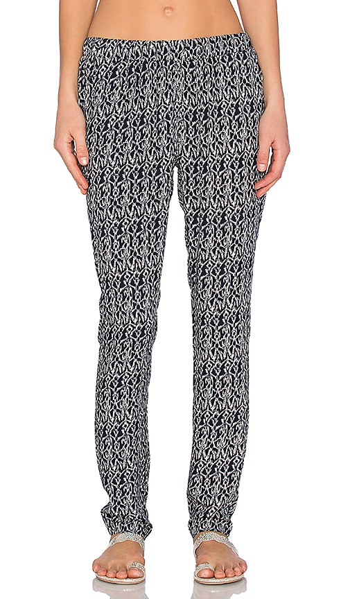 Bishop + Young Printed Knit Pant in Navy