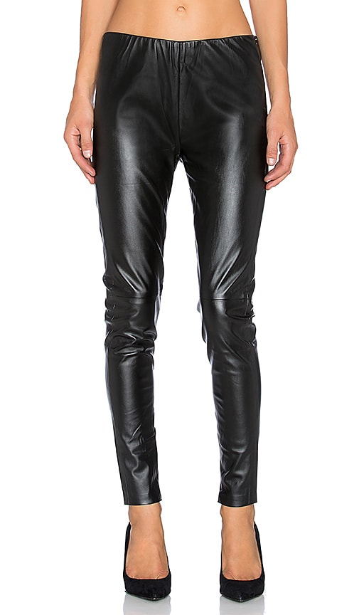 Bishop + Young Vegan Leather Legging in Black