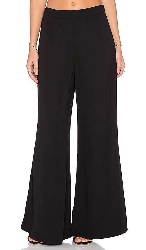 Bishop + Young Wideleg Dressy Pant in Black