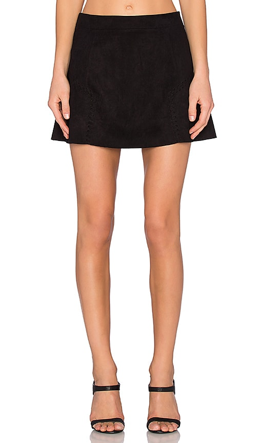 Bishop + Young Lily Side Stitch Mini Skirt in Black