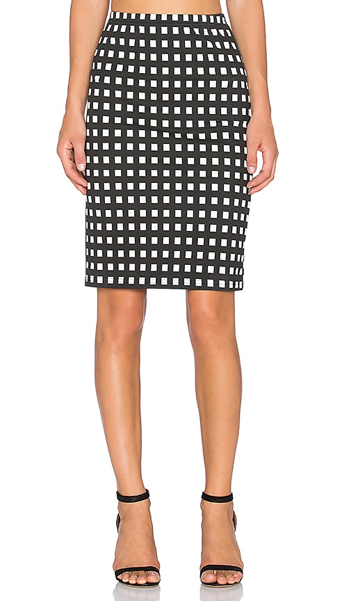 Bishop + Young Gingham Pencil Skirt in Print