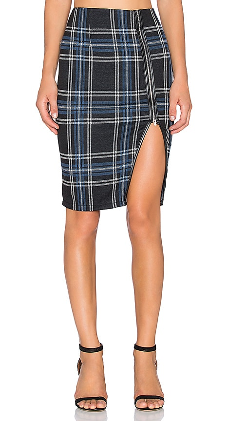 Bishop + Young Pencil Skirt in Blue Plaid