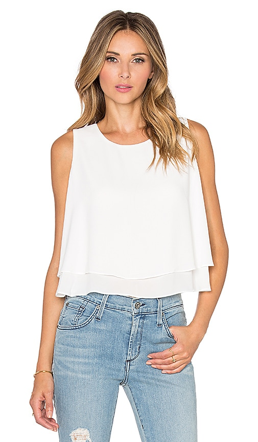 Bishop + Young Double Layer Tank in White