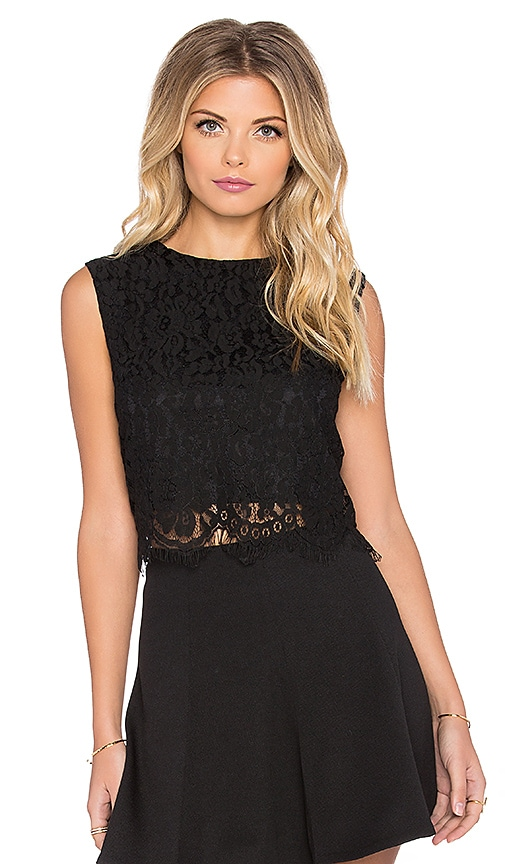 Bishop + Young Everly Lace Crop Top in Black