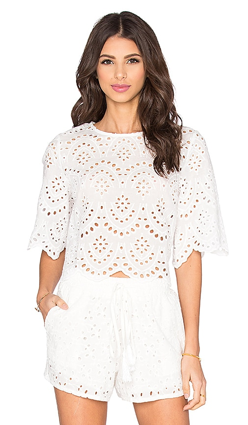 Margaux Eyelet Crop Top
