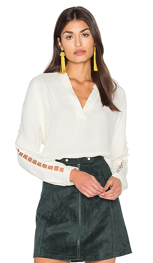 Bishop + Young Insert Sleeve Top in Ivory