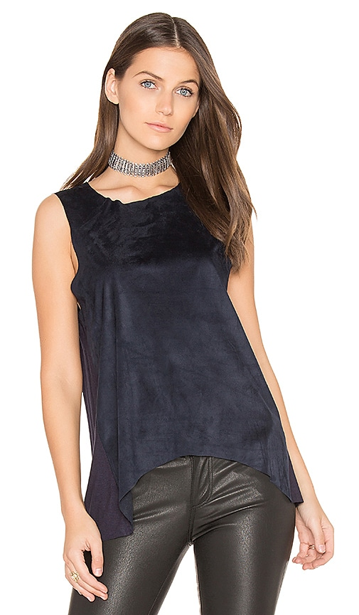 Bishop + Young Sueded Paulina tank in Navy