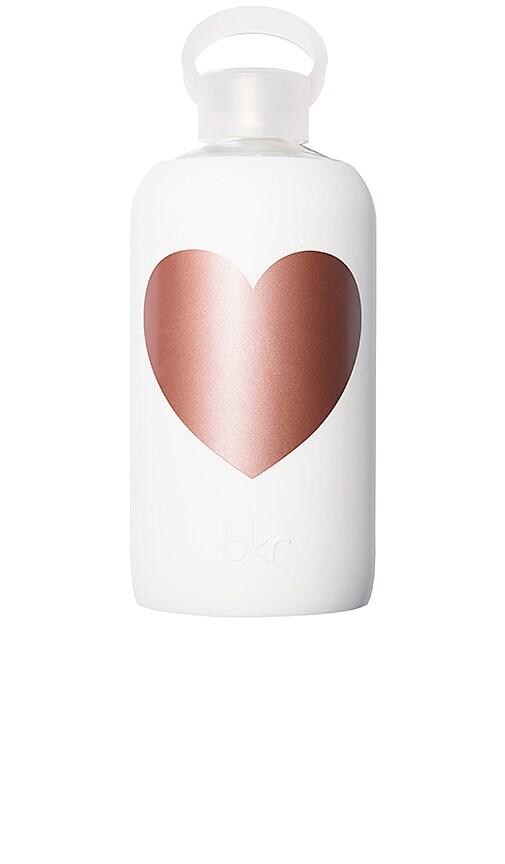 bkr Metallic Rose Winter Heart 1L Water Bottle in Metallic