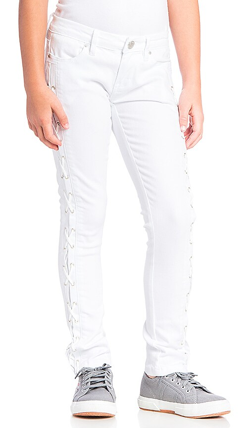 BLANKNYC Lace Up Skinny in White