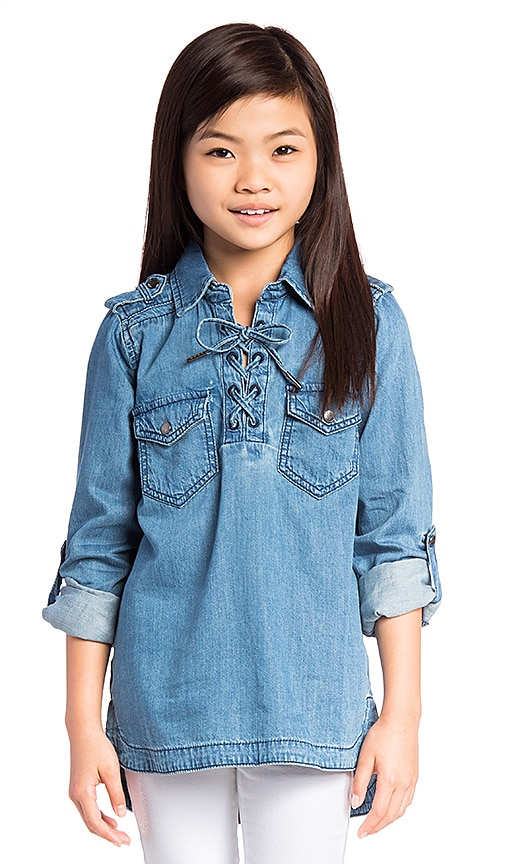 BLANKNYC Denim Top in Blue