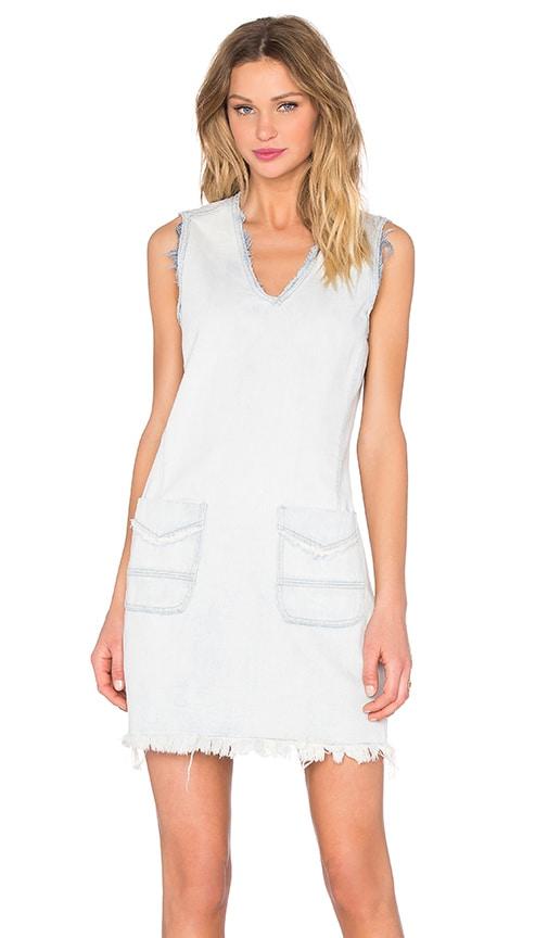 V Neck Distressed Dress