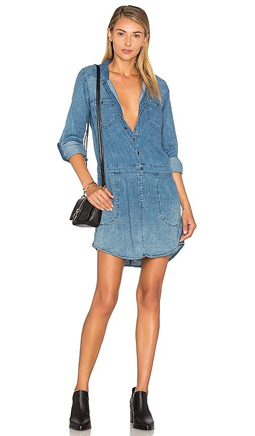 BLANKNYC Button Front Dress in Blue