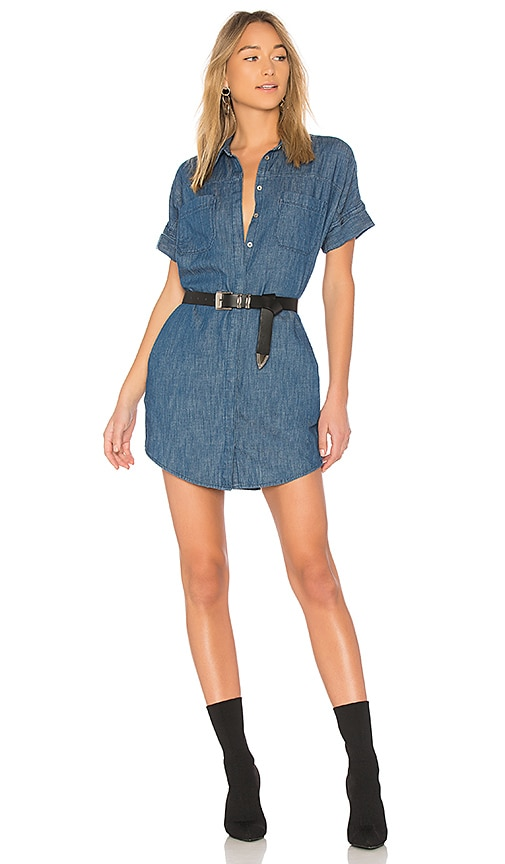 BLANKNYC Fatal Attraction Shirt Dress in Blue