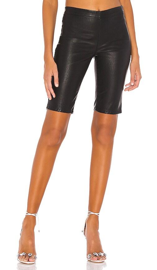 Vegan Leather Bike Short