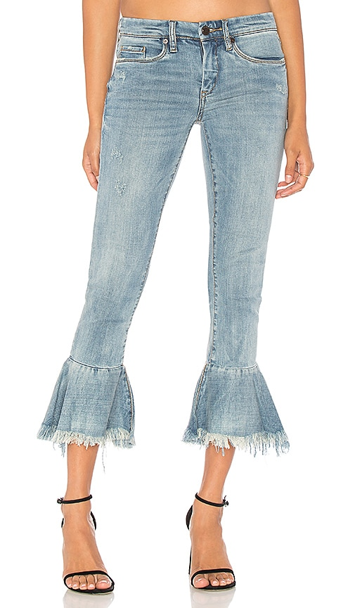BLANKNYC Ruffle Crop Jean in Fancy That