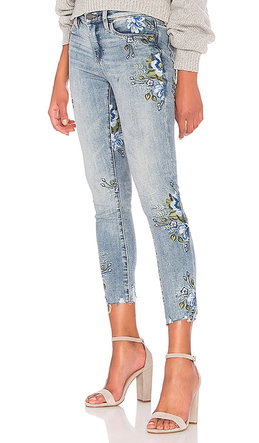 BLANKNYC Embroidered Skinny Jean in Back to Nature