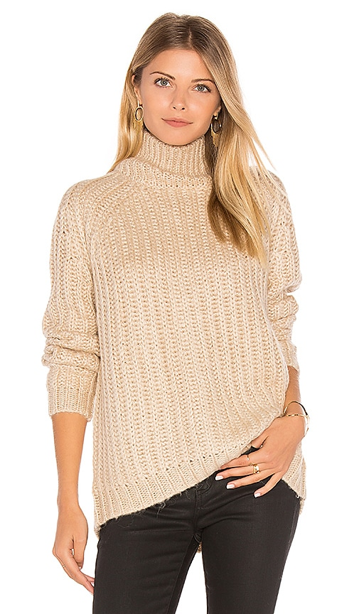 BLANKNYC Turtleneck Sweater in Beige