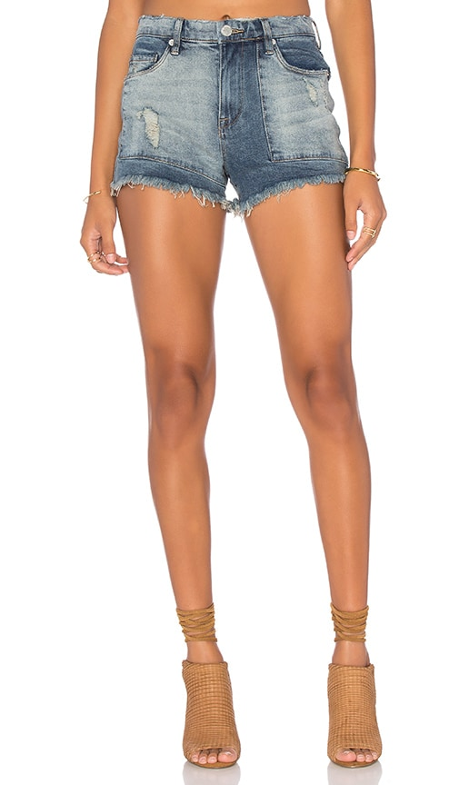 BLANKNYC Distressed Cut Off Short in Rough Patch