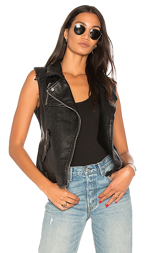 BLANKNYC Denim Vest in Black