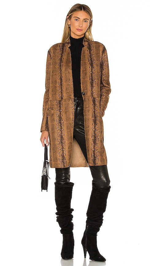 Copperhead Faux Leather Coat