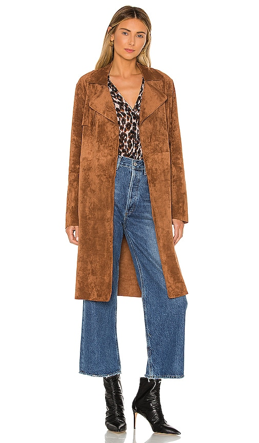Coco Faux Suede Trench