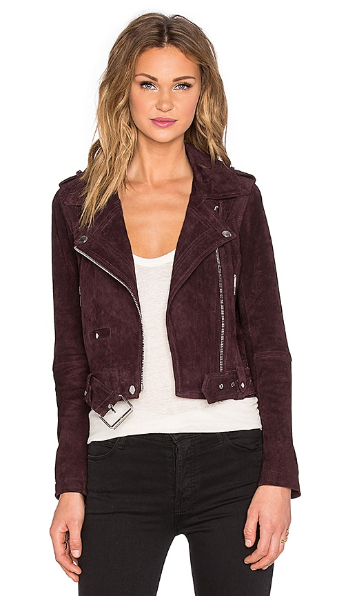 BLANKNYC Moto Jacket in Maroon