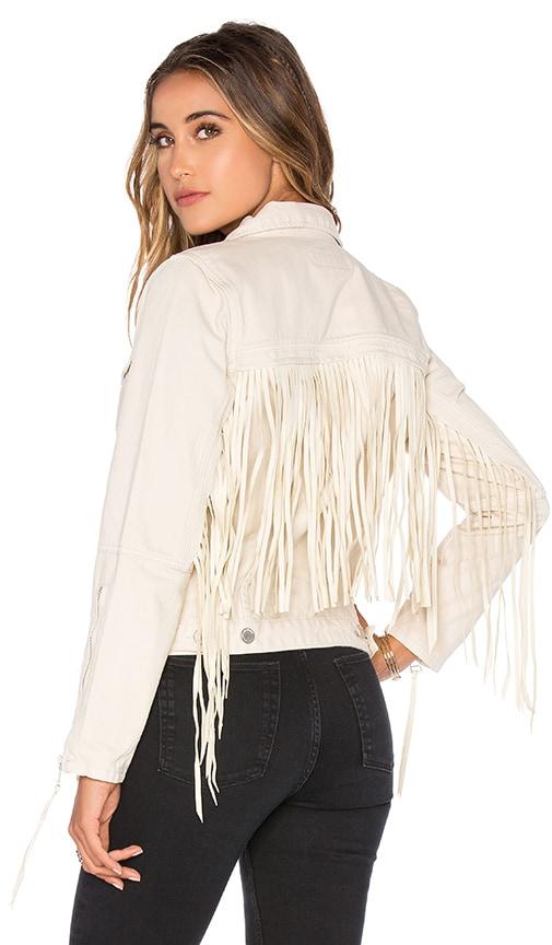 BLANKNYC Fringe Jacket in Fringe Beige