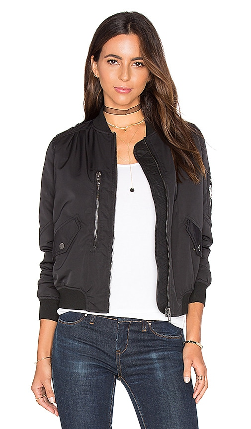 BLANKNYC Bomber Jacket in Black