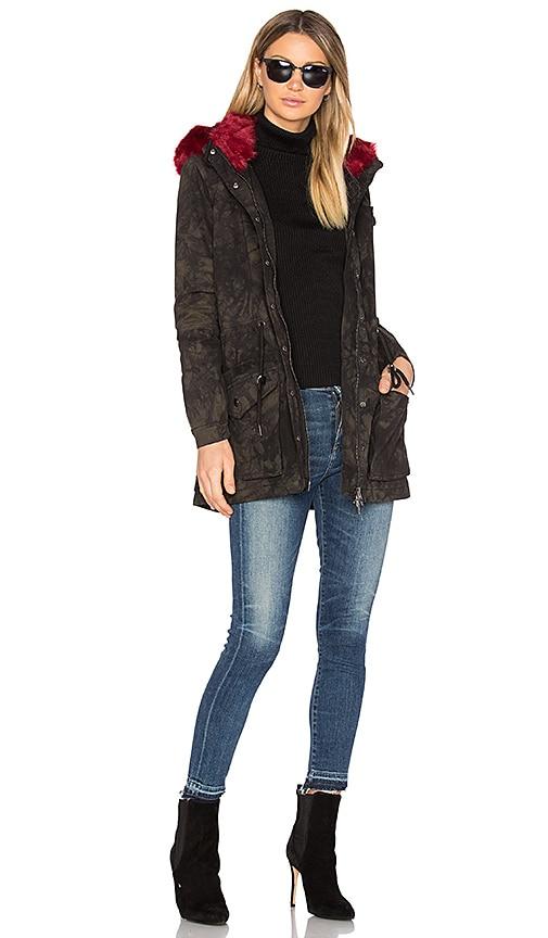 BLANKNYC Faux Fur Parka in Black