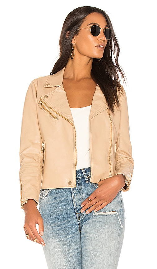 BLANKNYC Classic Moto Jacket in Tan