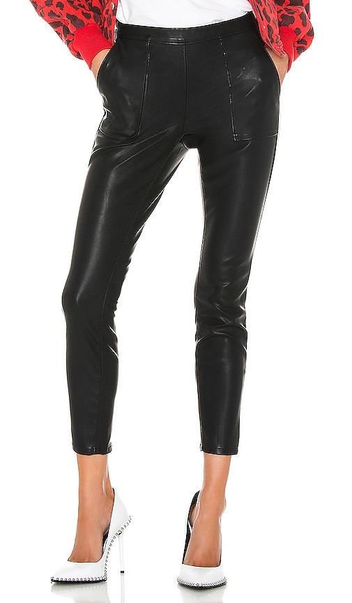 Carbon Vegan Leather Pant