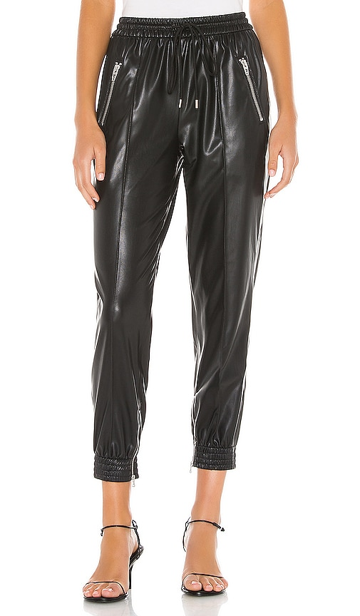 Running Wild Faux Leather Jogger