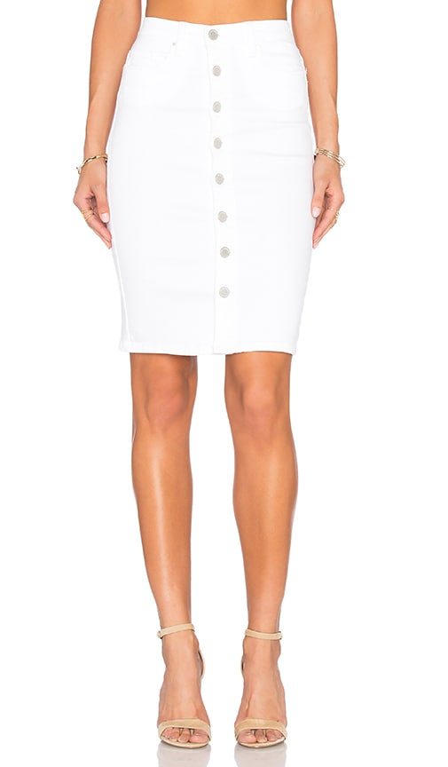BLANKNYC Button Front Pencil Skirt in White