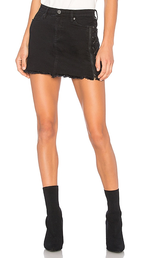 BLANKNYC Lace Up Skirt in Be A Frayed