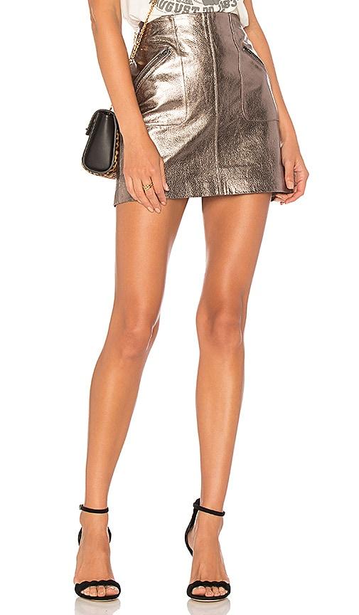 BLANKNYC Mini Skirt in Metallic Silver