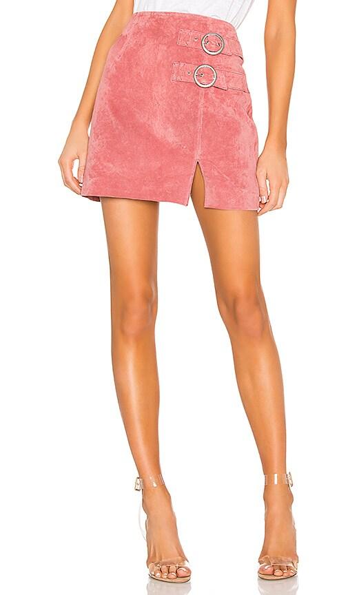 Suede Buckle Skirt