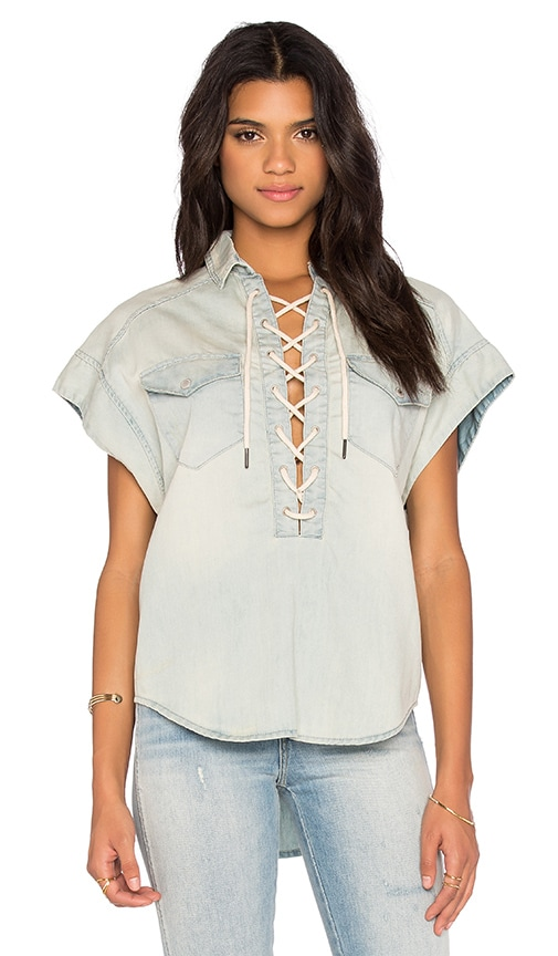 BLANKNYC Lace Front Top in Left Field
