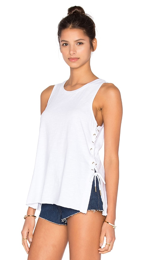 BLANKNYC Lace Up Tank in White