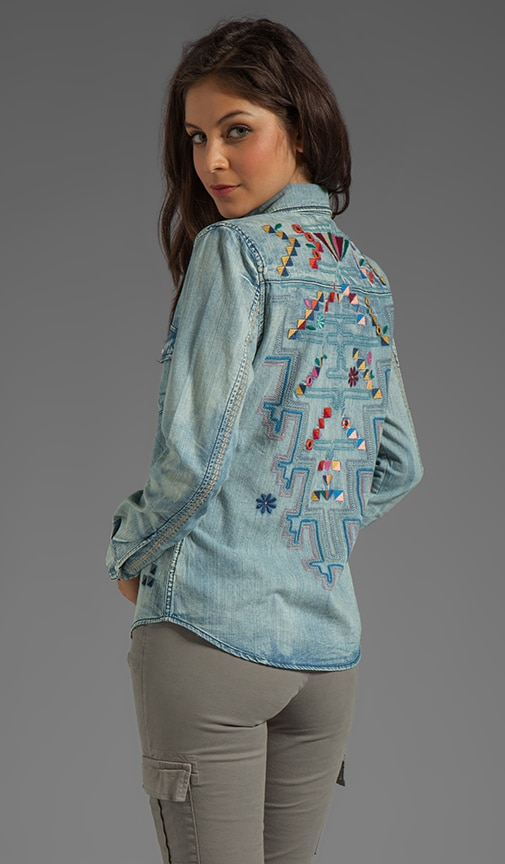 Embroidery Denim Shirt