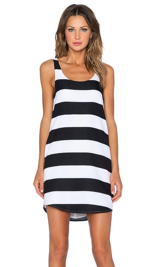 BLAQUE LABEL Striped Tank Dress in Black & White