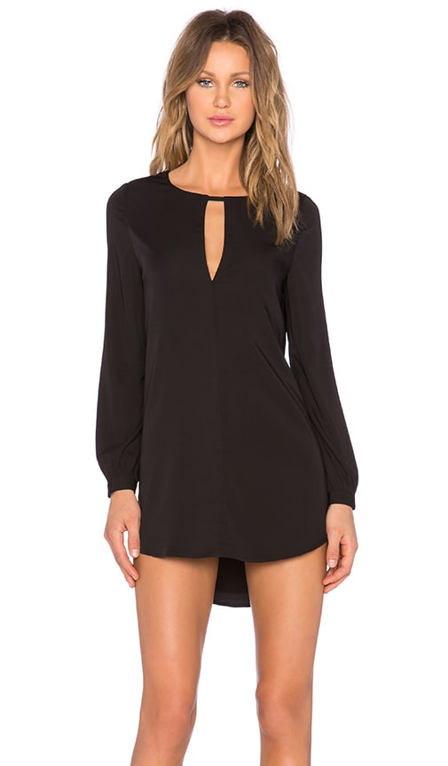 BLAQUE LABEL High Low Keyhole Dress in Black