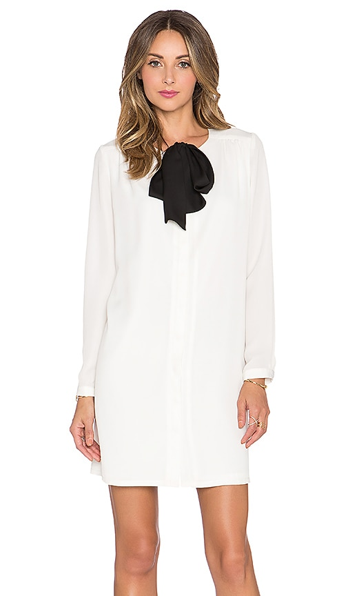 BLAQUE LABEL Tie Neck Dress in White