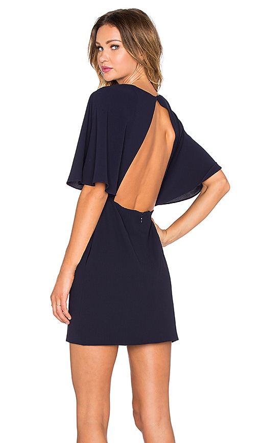 BLAQUE LABEL Backless Party Dress in Navy