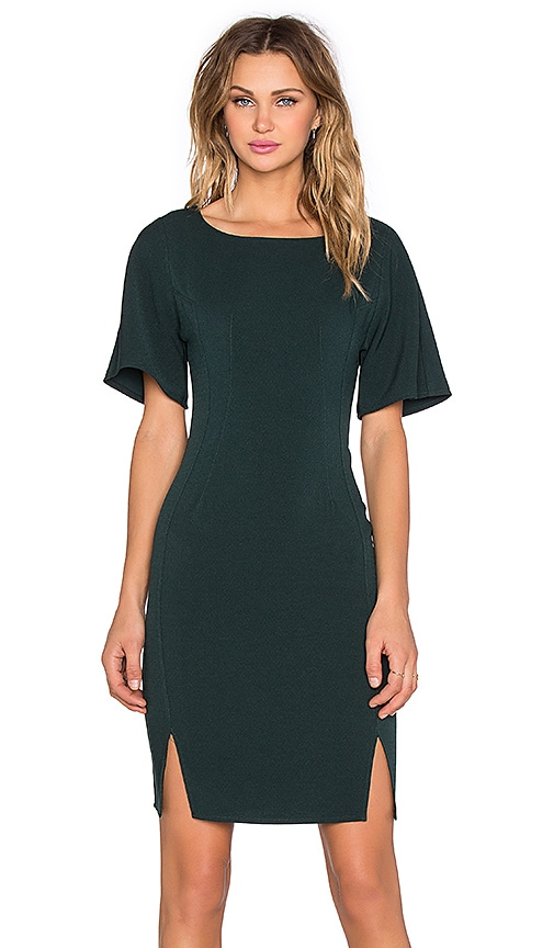 BLAQUE LABEL Fitted Mini Dress in Wintergreen