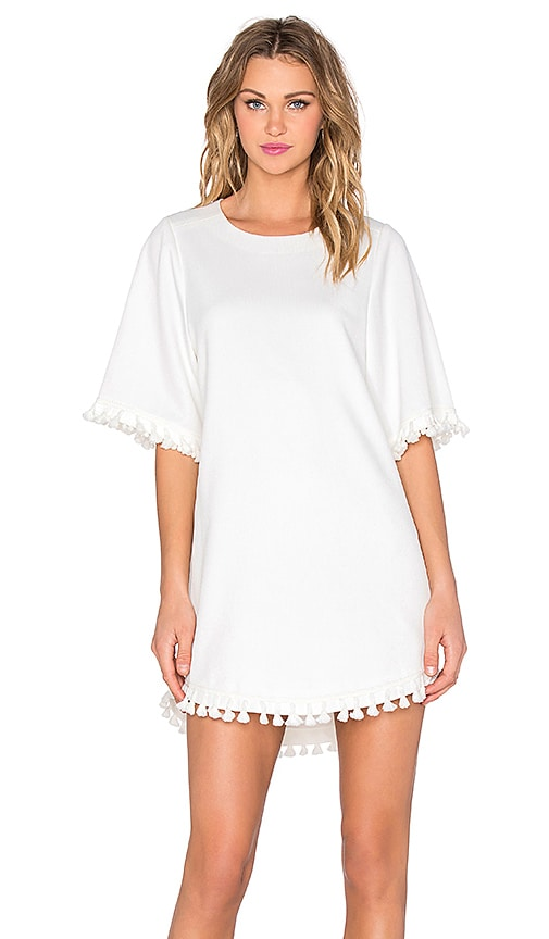 BLAQUE LABEL Tassel Mini Dress in White