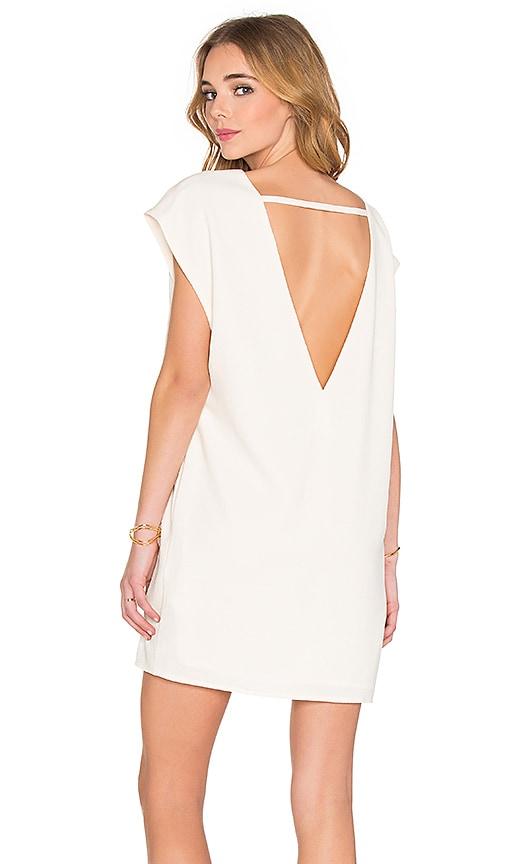 BLAQUE LABEL V-Back Dress in Ivory