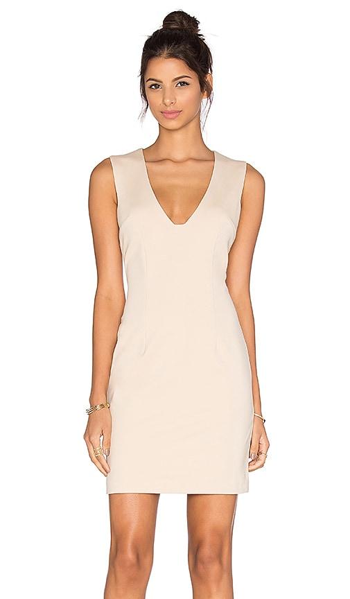 2189232d2c BLAQUE LABEL Plunging Neckline Mini Dress in Sand 85%OFF. Women · Dresses