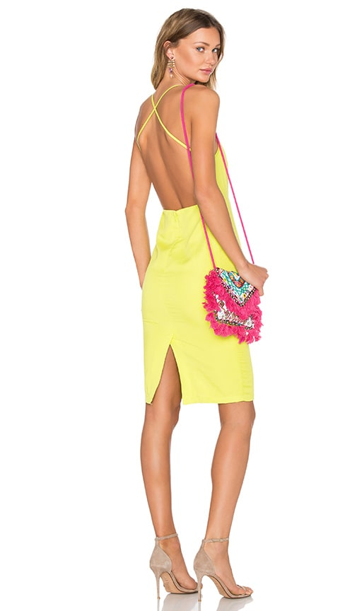 BLAQUE LABEL X Back Midi Dress in Yellow
